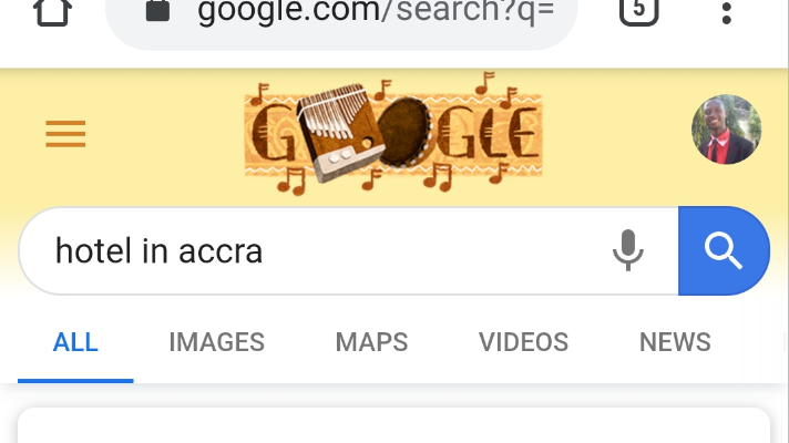 Google search for hotel in accra. Topic: What is SEO?