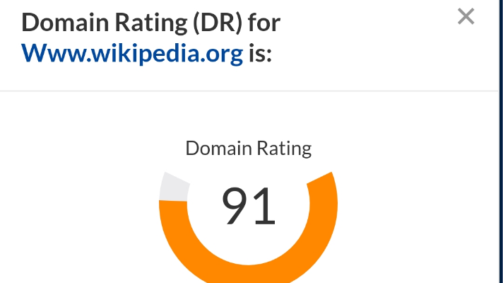 Domain rating for Wikipedia.org Topic: What is SEO?